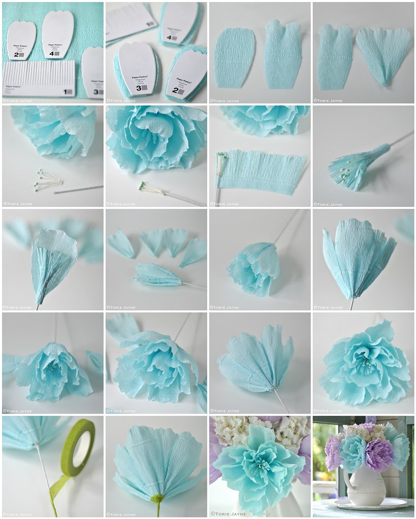 Crepe paper peony flower tutorial blogged at torie jaynec flickr crepe paper peony flower tutorial by toriejayne mightylinksfo