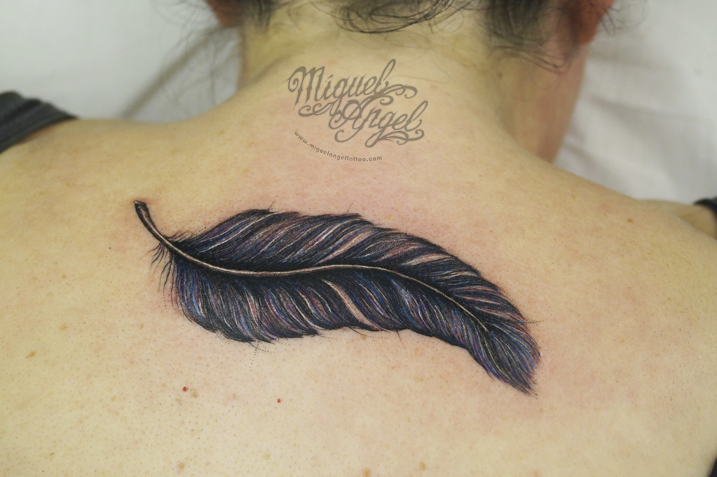 freehand crow raven feather tattoo miguel angel custom tat flickr rh flickr com angel feather tattoos designs angel feather tattoo designs