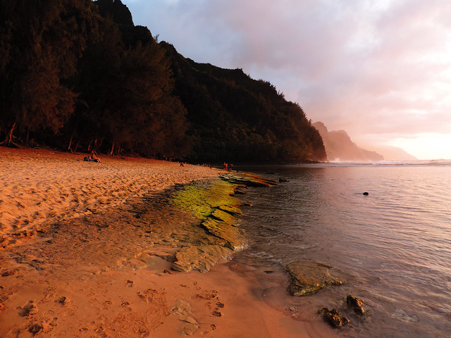 Ke'e Beach at Na Pali Coast, Kauai, Hawaii