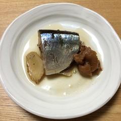 ストウブで作る秋刀魚の梅煮