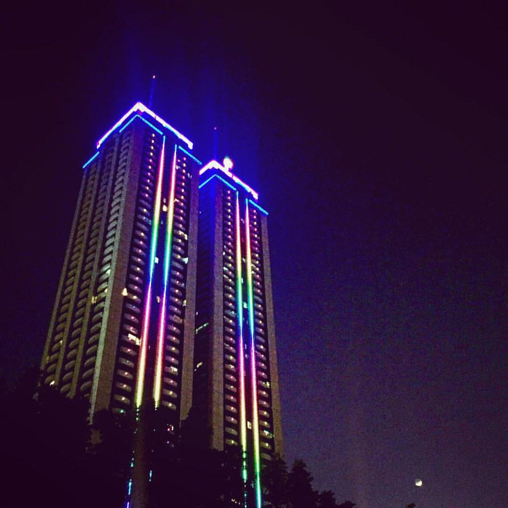Twin Tower #Ortigas #Manila #Philippines #night #light #ne