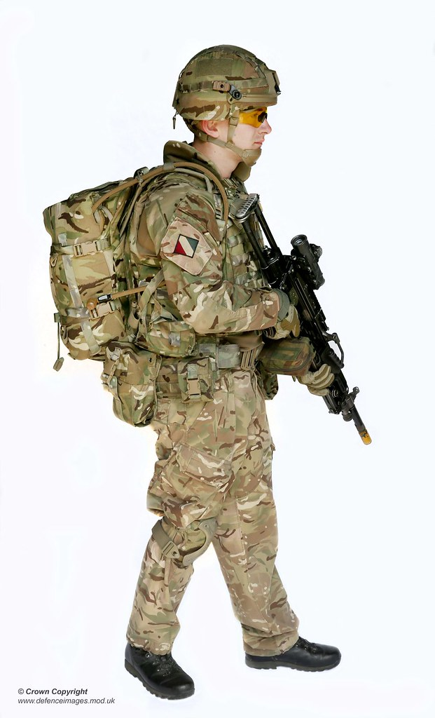 Pictured Is A Side View Of Soldier Wearing Full Virtus Bod