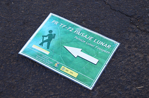Sign on ground, Vilaflor, Tenerife