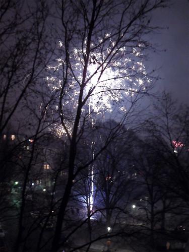 Silvesterfeuerwerk in Kreuzberg