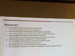 Resources for the ALA accreditation review. #alise17
