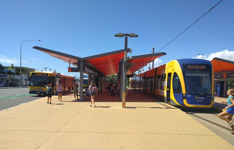 Gold Coast Light Rail: Broadbeach South tram/bus interchange