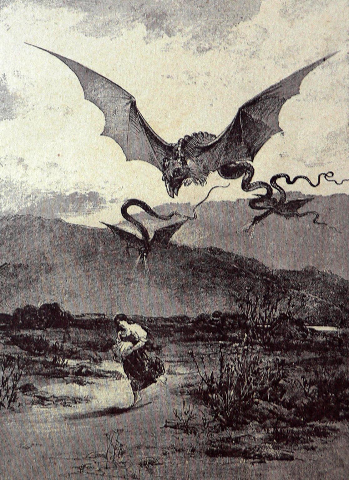 "Viktor Oliva - Illustration from ""National Fairy Tales and Legends"" by V. B. Trebizskeho, 1870"
