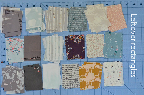 Leftover Fabric Rectangles