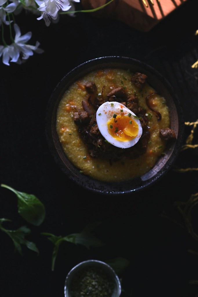 Butternut Squash Polenta + Veggie Sausage