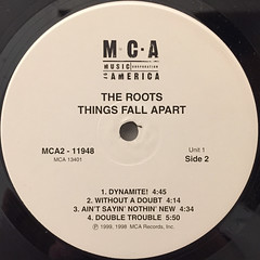 THE ROOTS:THINGS FALL APART(LABEL SIDE-B)