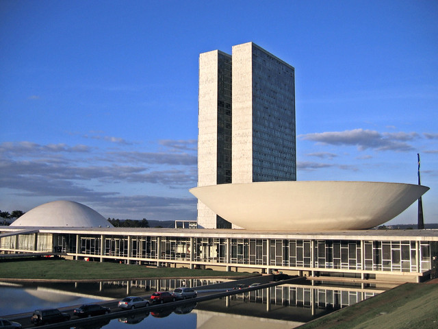 The National Congress of Brazil | The Senate is the dome ...