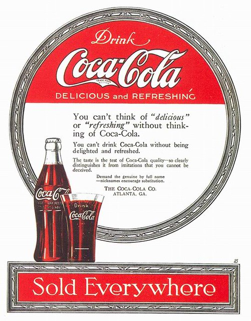 Coca-Cola Ad, 1919  From Taschens -1592