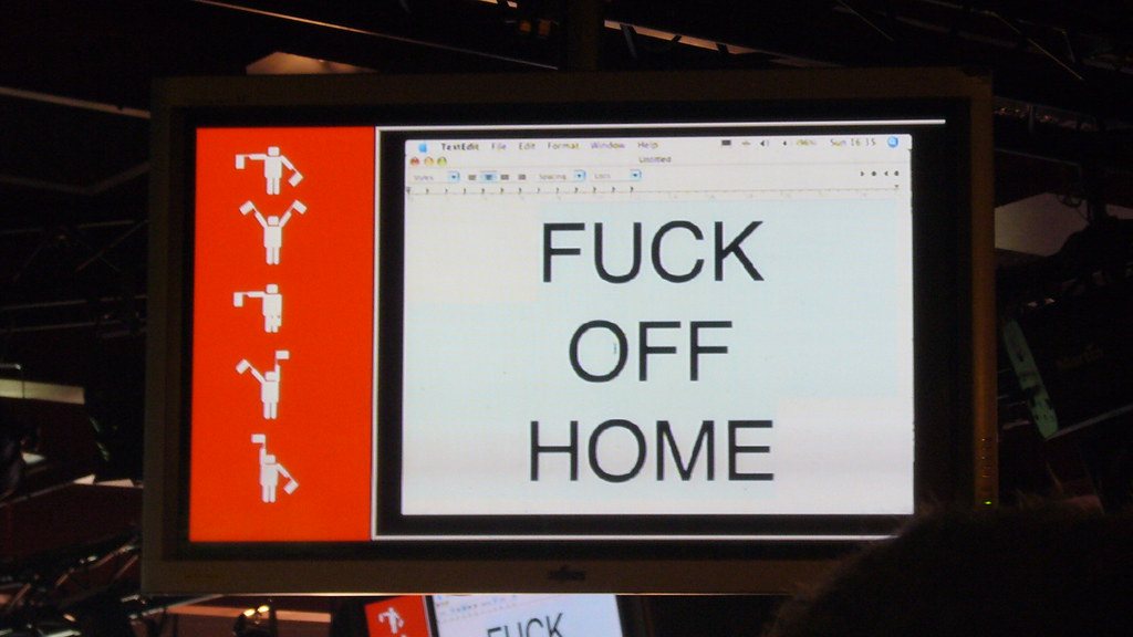 Fuck off home