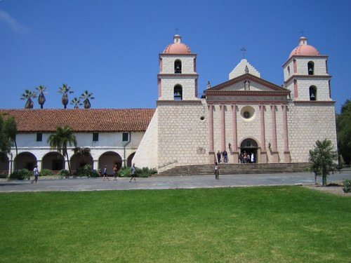 Santa Barbara Mission Front View Mikepmiller Flickr