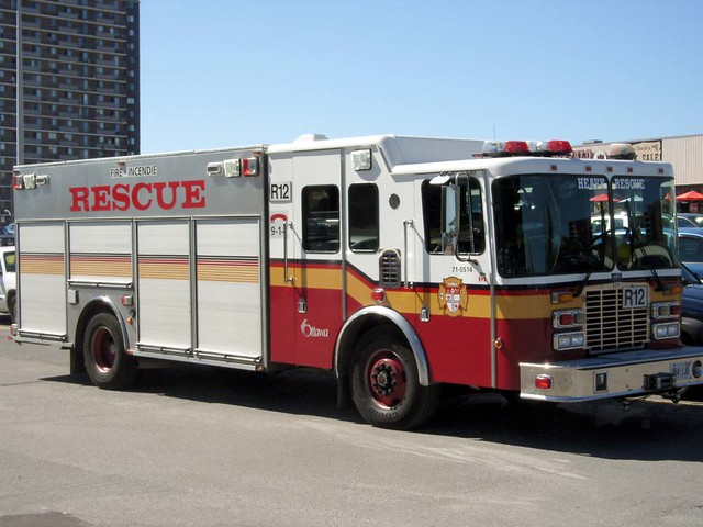 A City Of Ottawa Fire Department Heavy Rescue Vehicle