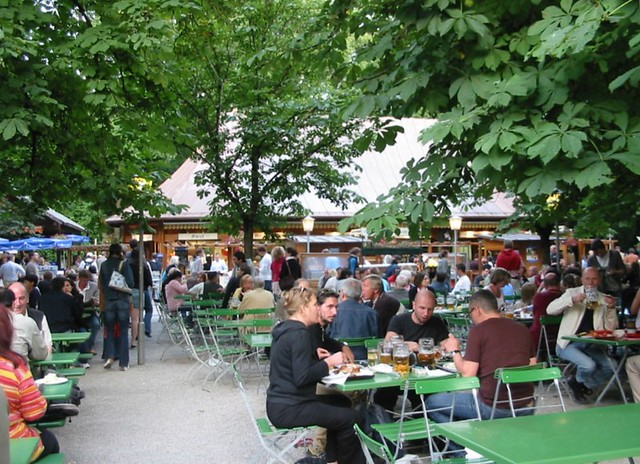 beer garden at chinese tower munich beer garden at the ch flickr. Black Bedroom Furniture Sets. Home Design Ideas