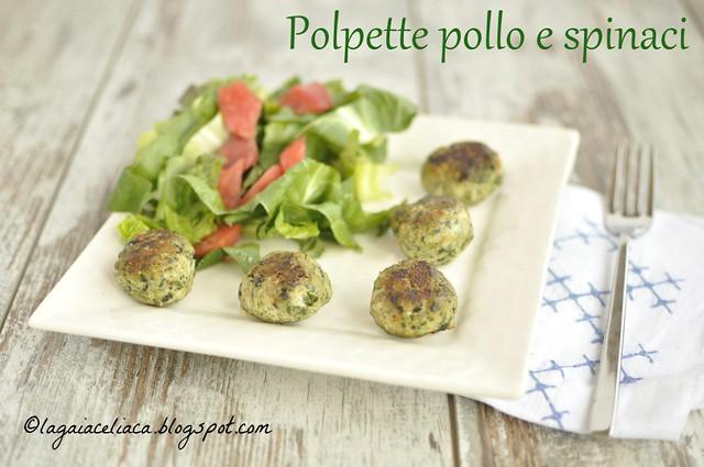 Gluten free Polpette pollo e spinaci