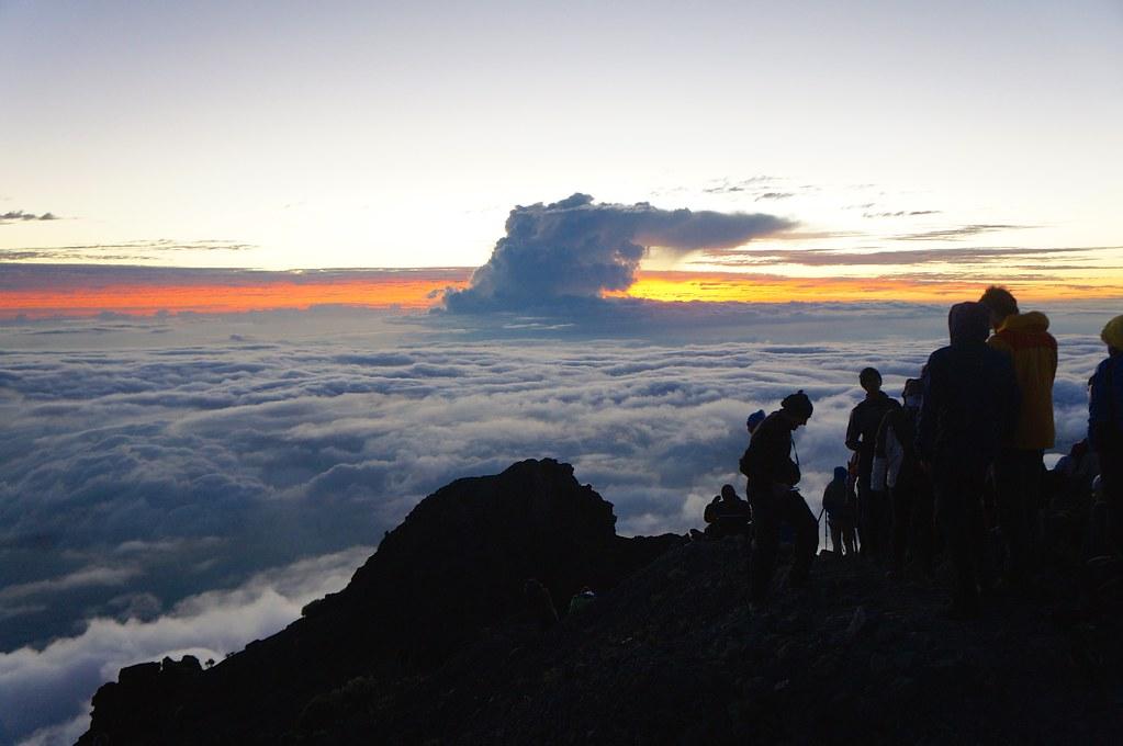 Sunrise on top of Mount Rinjani