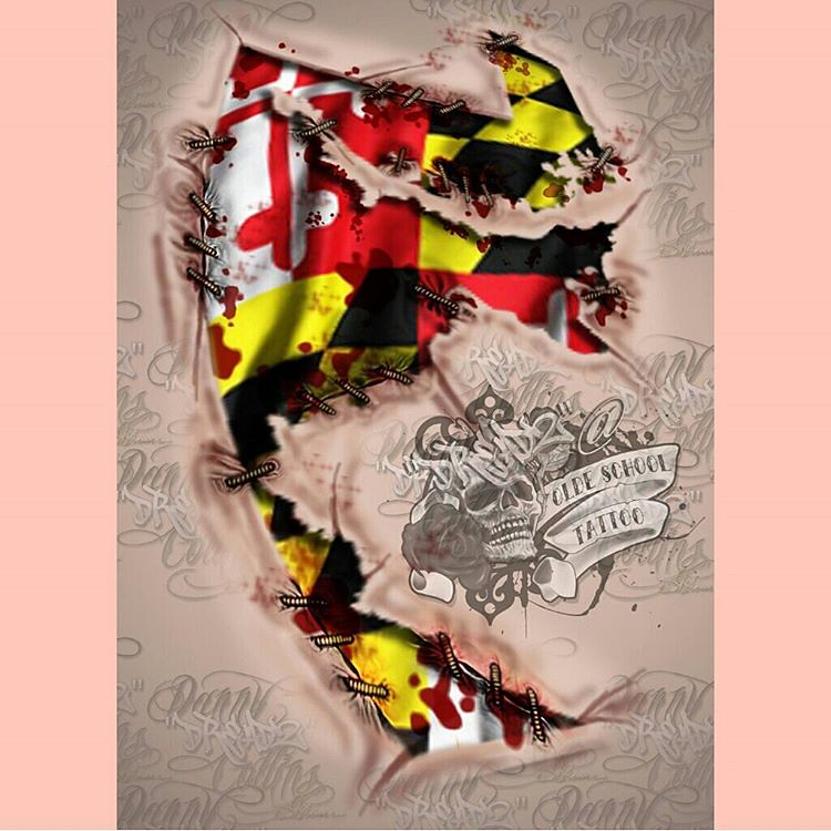 Attractive Artwork for client - state of Maryland flag and Maryland s… | Flickr DI93