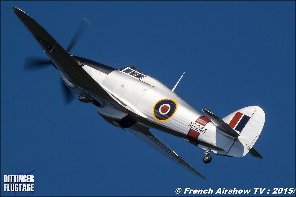 Hawker Hurricane MK IIB G-CBOE AG244, Dittinger Flugtage 2015 , Internationale Dittinger Flugtage, Meeting Aerien 2015