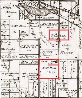 Bundy school map 1906