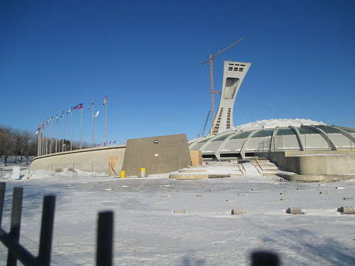 Stade Olympique/Olympic Stadium (6) #montreal #montréal #stadeolympique #olympicstadium #architecture #hochelagamaisonneuve #latergram