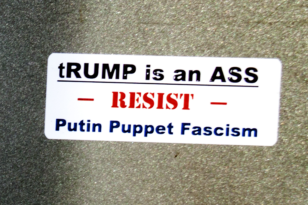 tRUMP is an ASS RESIST Putin Puppet Fascism--Washington (detail)