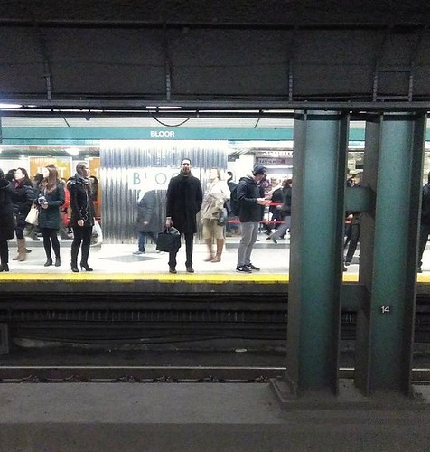 Early morning commuters, Bloor-Yonge #toronto #ttc #yongeandbloor #blooryonge #ttc #subway