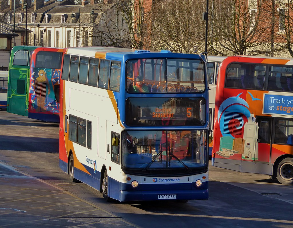 Stagecoach East Kent 17553 Ly02obe On Route 5 At Canterb