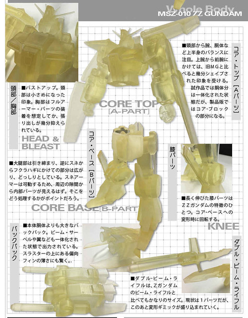 MG 1/100 MSZ-010 ZZ Gundam Ver. Ka prototype 01