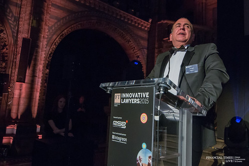 Integreon CEO Bob Gogel speaking at the FT Innovative Lawyers Awards in Europe