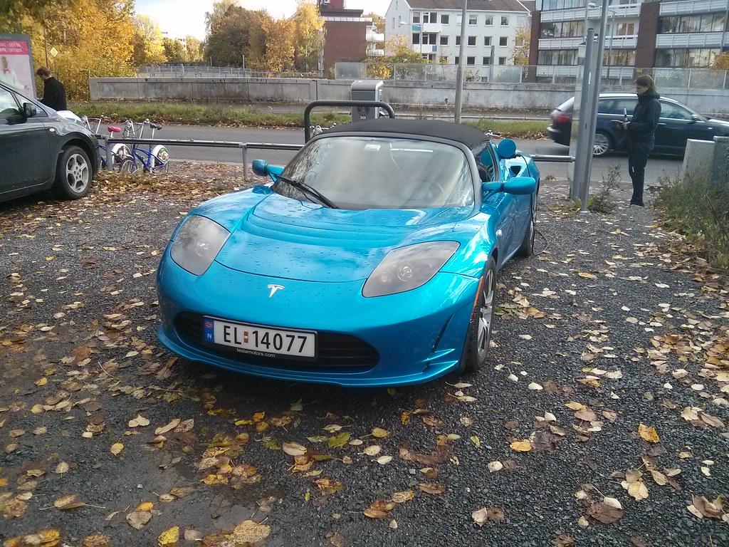 Tesla Roadster en Oslo