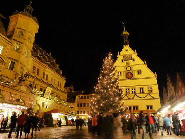 Mercadillo navideño de Rothenburg (Norte de Baviera, Alemania)