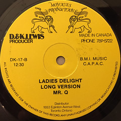 MR.Q:LADIES DELIGHT(LABEL SIDE-B)