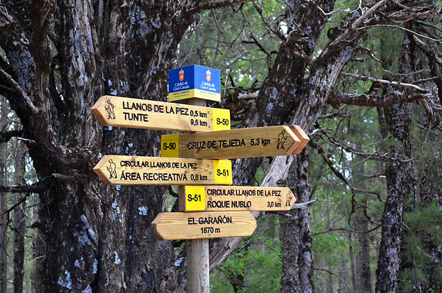 Walking signposts, Gran Canaria