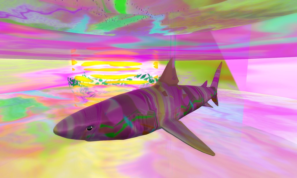 VAPORWAVE FANS WILL DIG THIS AESTHETIC OH YEAH COLOR SHARK ...
