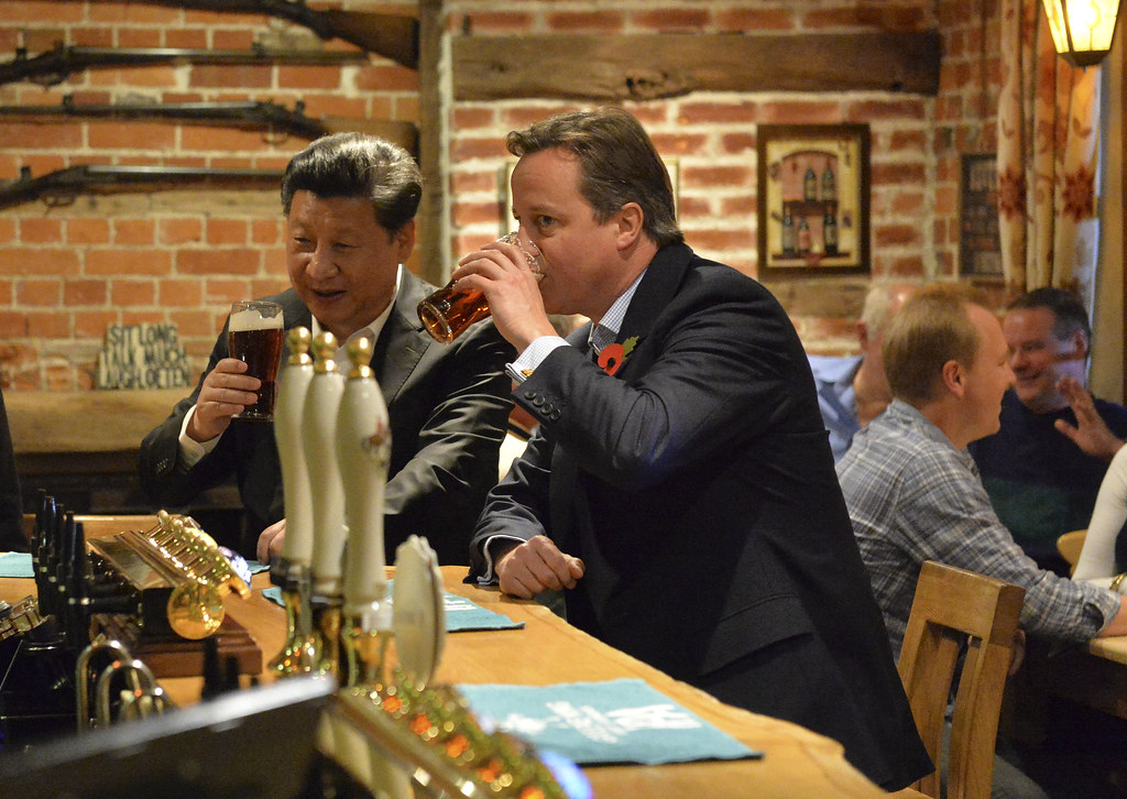 David Cameron and President Xi visit a local pub, The Plough at Cadsden during his visit to Chequers. Crown copyright. Credit: Georgina Coupe. Number 10, flickr