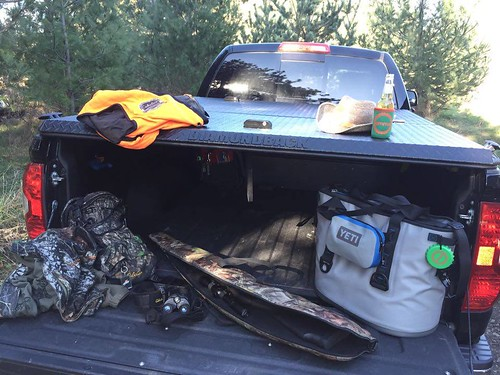 Hunting Gear And An Aluminum Tonneau Cover On A Toyota Tun