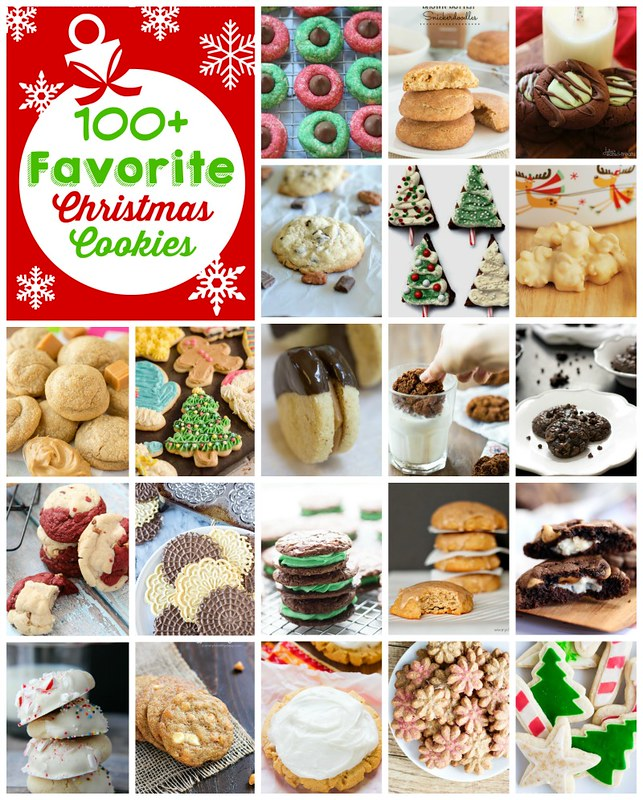 100+ ideas for delicious Christmas cookies! There is something for everyone in this list!
