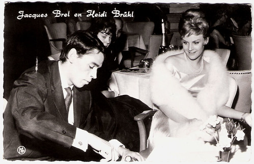 Jacques Brel and Heidi Brühl