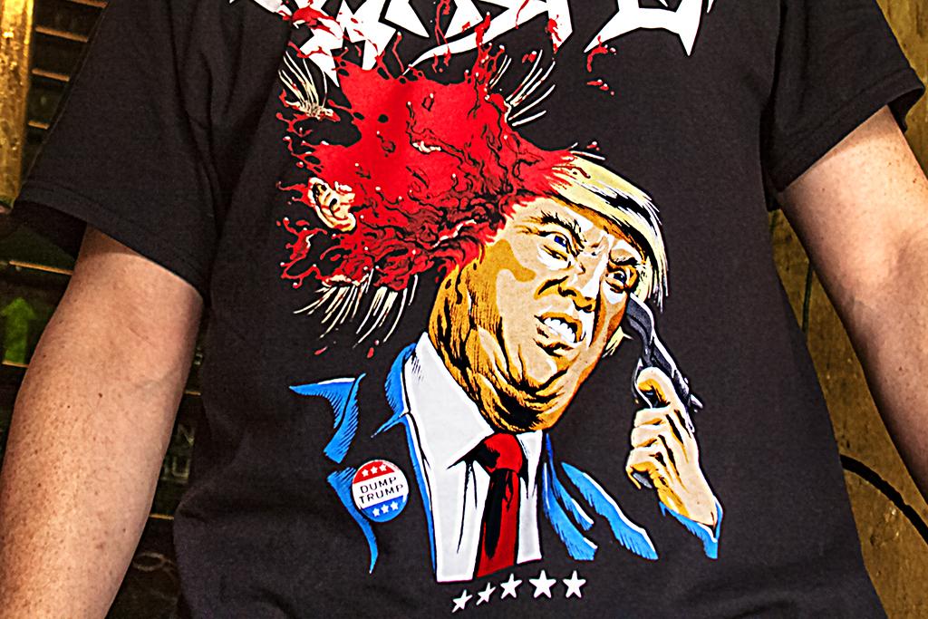 Trump blowing his brain out--Bella Vista (detail)