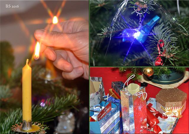 Weihnachtsimpressionen 2016: Weihnachtsallerlei Weihnachtsgeschenke Weihnachtsbaum ... Fotos und Collagen: Brigitte Stolle Mannheim