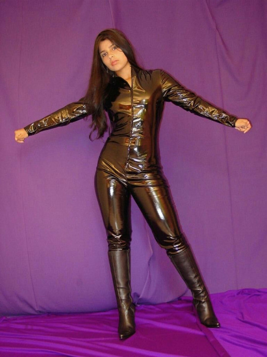 Pretty girl in vinyl catsuit  PVC Fashion  Flickr