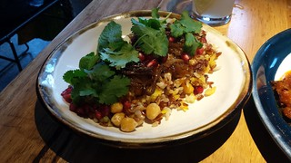 Three Rice Pilaf with Lentils, Chickpeas, Pomegranate and Fried Onions at Transformer