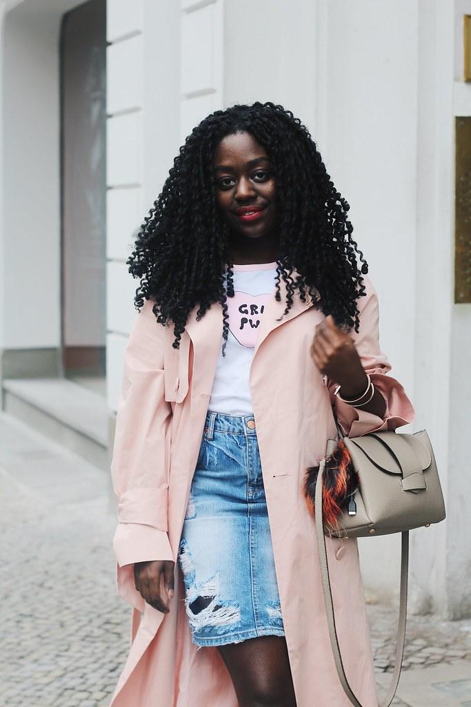 Lois opoku pink Trenchcoat style lisforlois