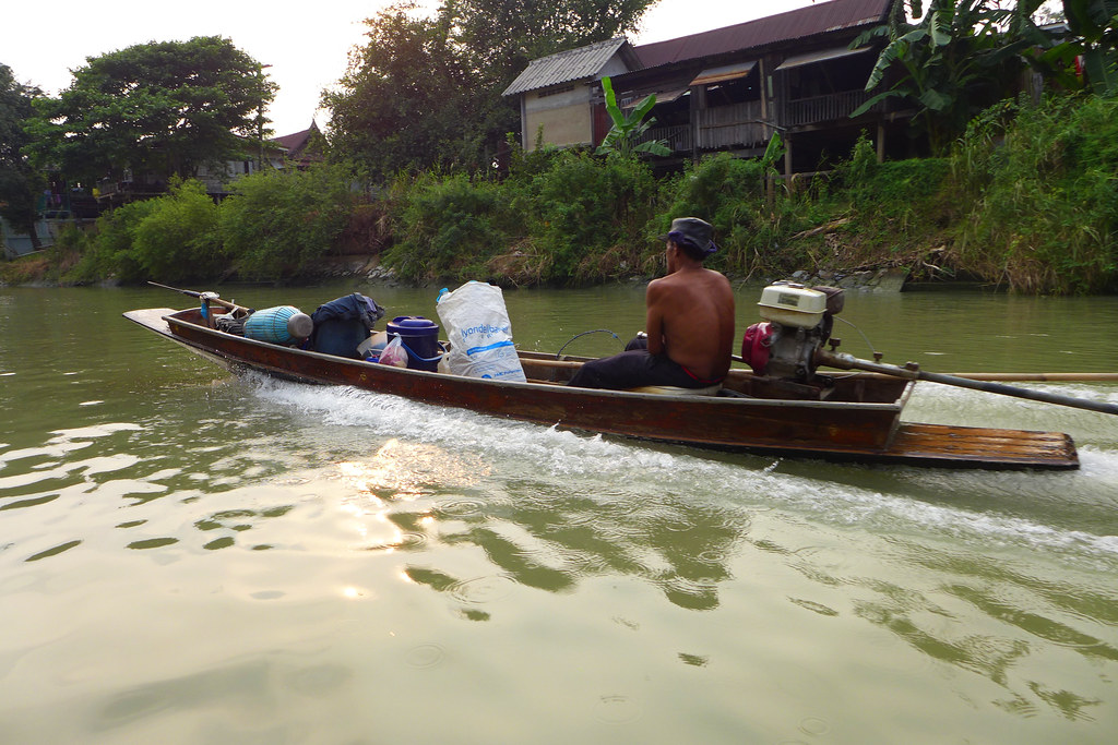Thaïlande - Ayutthaya - 146 - Sur la Chao Phraya