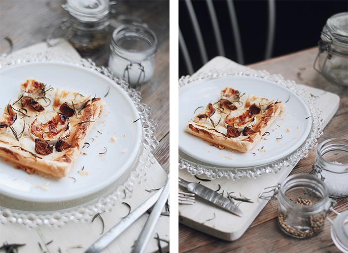 Ziegenkaese-Blätterteig-Rezept