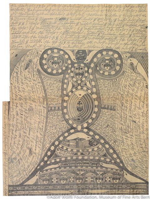 《父なる=神=聖アドルフの=ハープ》(1917年)ベルン美術館 アドルフ・ヴェルフリ財団蔵