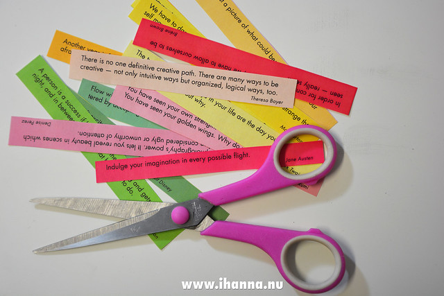 Cut out the quote strips from iHanna's free printable and glue them in any of your notebooks #printable #inspiration