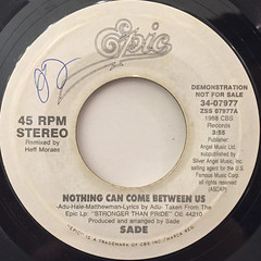 SADE:NOTHING CAN COME BETWEEN US(LABEL SIDE-B)